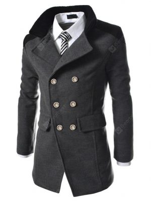 DressLily Men's Coats Stylish Turn-down Collar Comfort Warm