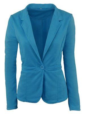 DressLily Women's Blazer OL Style Solid Slim Cappa Style Blazer