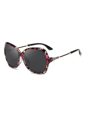 DressLily Butterfly Shape Decorated Polarized Sunglasses