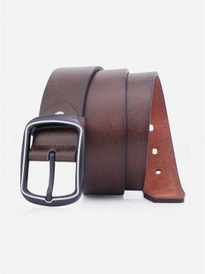 Zaful Rectangular Pin Buckle Faux Leather Belt - Coffee