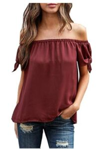 Relipop Womens Off Shoulder Tops