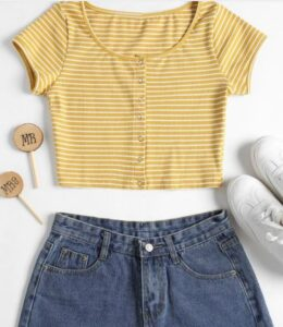 Zaful Stripped top