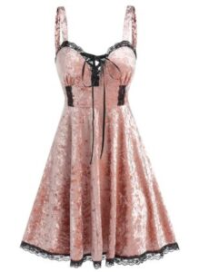 Dresslily Lace Panel Sweetheart Neck Dress