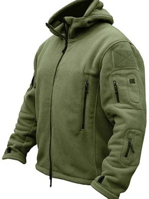 CARWORNIC Men's Military Tactical Fleece Jacket