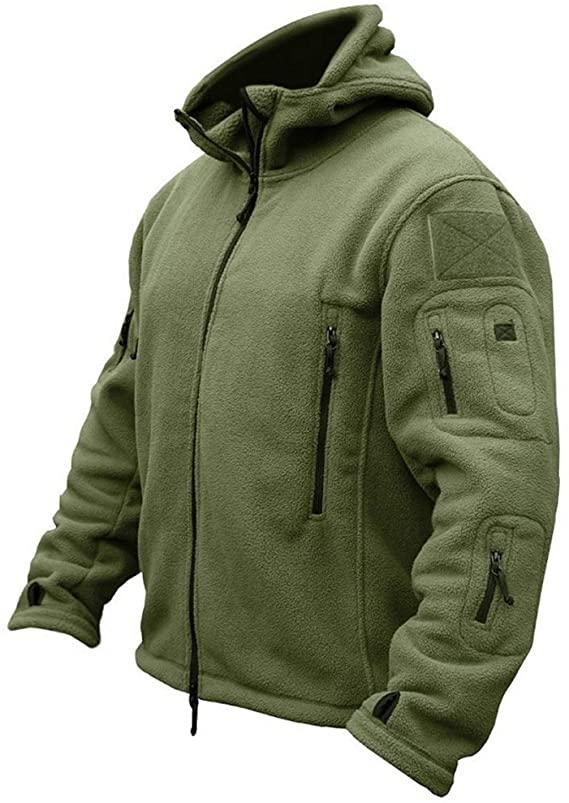CARWORNIC Men's Military Tactical Fleece Jacket