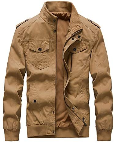 Buytop Men's Casual Winter Cotton Military Jackets