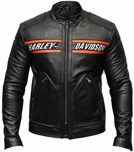 Black Motorcycle Real Cow Leather Jacket