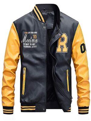 Lavnis Men's Faux Leather Jacket