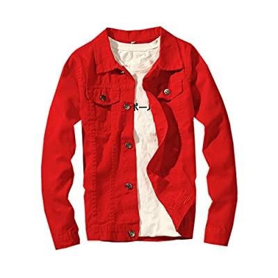 Classic Denim Jacket Men Slim Fit Fashion Jeans Coat