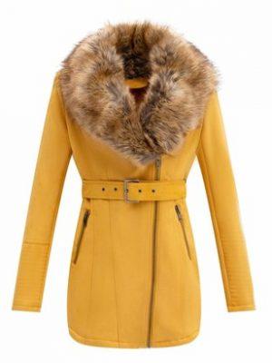 Bellivera Women's Faux Suede Leather Long Jacket