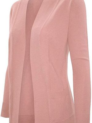 Cielo Women's Solid Basic Sweater Cardigan
