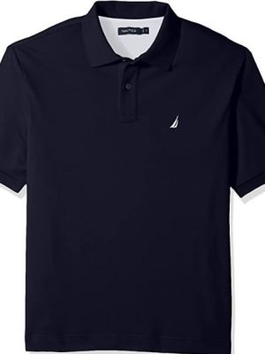 Nautica Men's Classic Fit Short Sleeve Solid Soft Cotton Polo