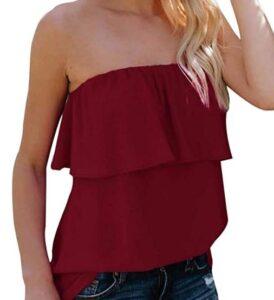 best strapless tops for women