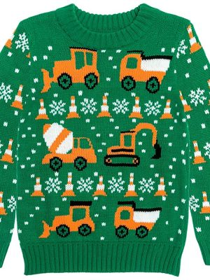 Rocksir Tractors & Bulldozers Ugly Christmas Sweater