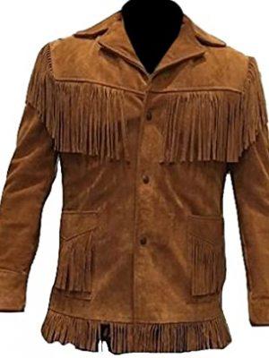 Classyak Women's Fashion Stylish Suede Leather Fringed Jacket