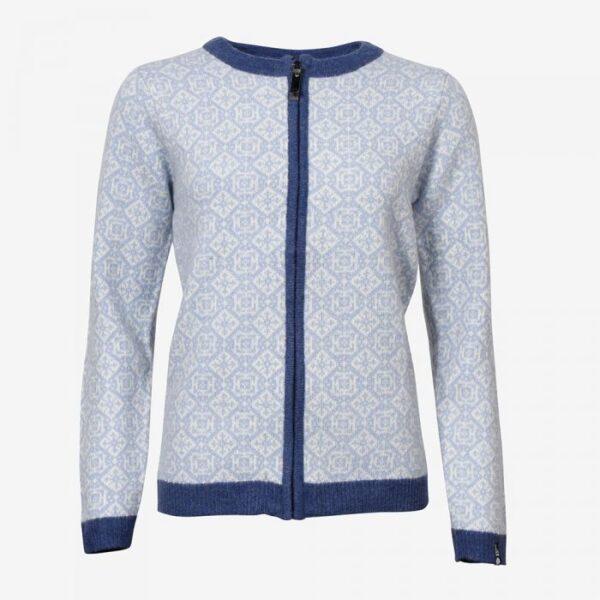 Women's Wool Sweater Norwegian Design Full Zip